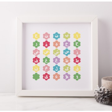 Alif Baa Taa The Arabic Alphabet Frame Art