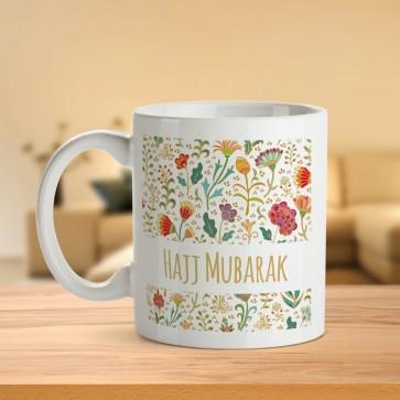 Hajj Mubarak Floral Mug