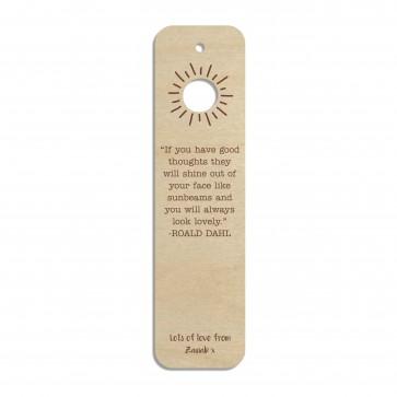 Sunshine Custom Engraved Wooden Bookmark