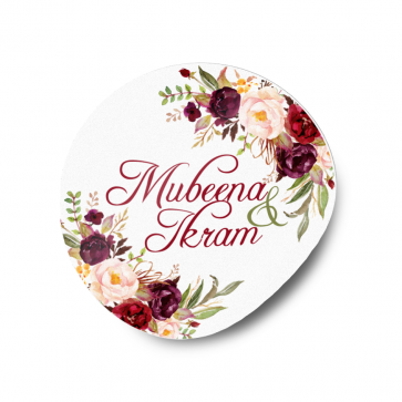Personalised  Floral Wedding Sticker Labels