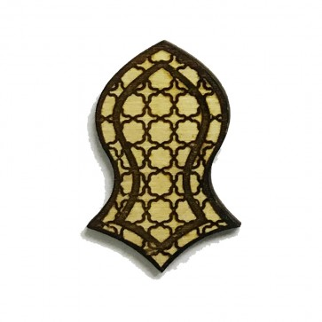 The Prophet's Sandal Laser-cut Geometric Deisgn Brooch Hat Pin - Nalain Shareef