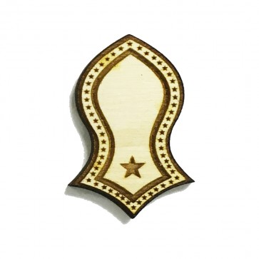 The Prophet's Sandal Laser-cut Stars Deisgn Brooch Hat Pin - Nalain Shareef