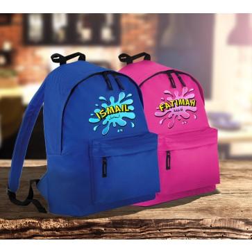 Personalised Splash Girl's & Boy's Backpack