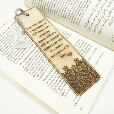 Custom Engraved Wooden Bookmark