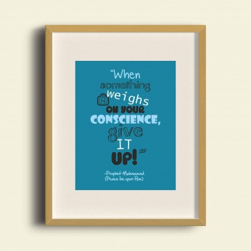When something weighs on your conscience, give it up - Poster Print