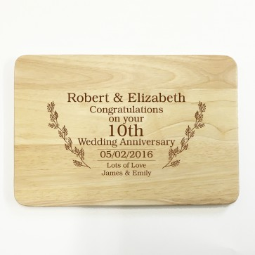 Personalised Wooden Chopping Board - Wedding Anniversary Gift