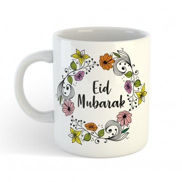 Eid Mubarak Floral Wreath - Mug