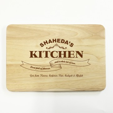 Personalised Wooden Chopping Board - Chef's Kitchen