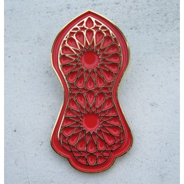 Geometric Red - Nalain Shareef Brooch