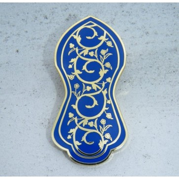 Blue  - Nalain Shareef Brooch