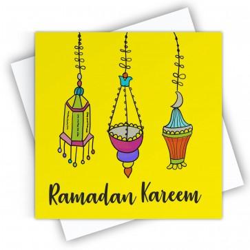 Ramadan Mubarak Lantern Greeting Card