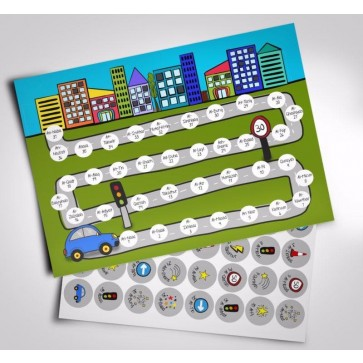 Juz Amma Hifz Sticker Chart City Theme