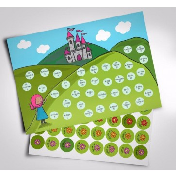 Juz Amma Hifz Sticker Chart Castle Theme