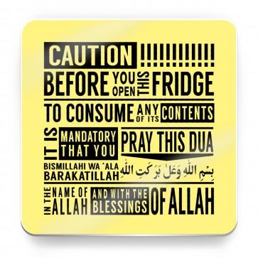 Caution, before entering this fridge, Bismillah - Magnet
