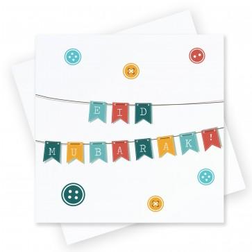 Eid Mubarak Bunting Greeting Card