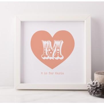 Personalised Heart Frame Art
