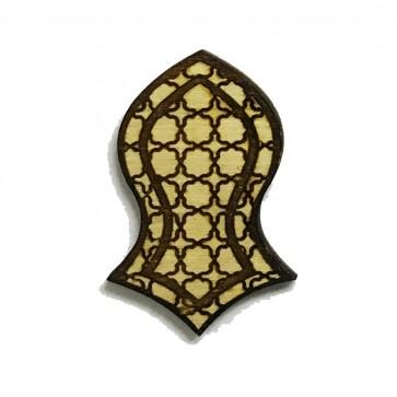 The Prophet's Sandal Laser-cut Geometric Deisgn Brooch Hat Pin - Nalain Shareef
