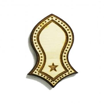 The Prophet's Sandal Laser-cut Stars Deisgn Brooch Hat Pin - Nalain Shareef