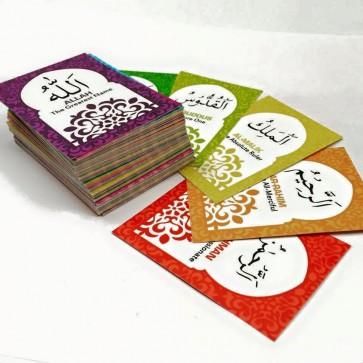 99 Names of Allah Memory Flash Cards
