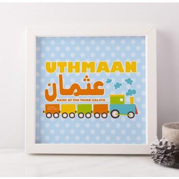Personalised Birth Train Frame Art