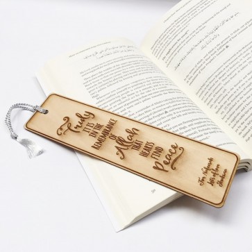 Engraved Wooden Bookmark