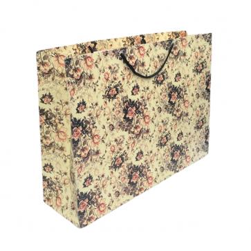 Vintage Cream Floral Gift Bag
