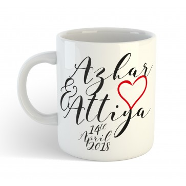 Personalised Couple Wedding Anniversary Gift Mug with custom message