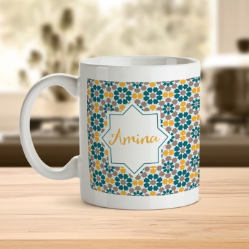 Eid Mubarak Mosaic Mug with Personalised name and message