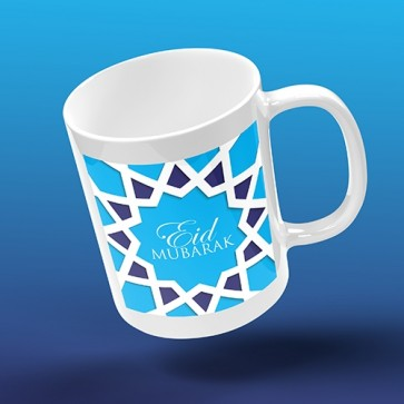 Eid Mubarak - ISLAMIC GEOMETRIC - Blue
