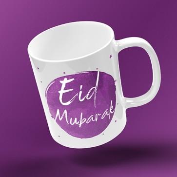 EID MUG - Inked Burst - PURPLE