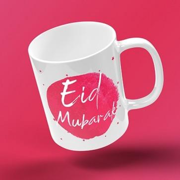 EID MUG - INKED BURST - cerise