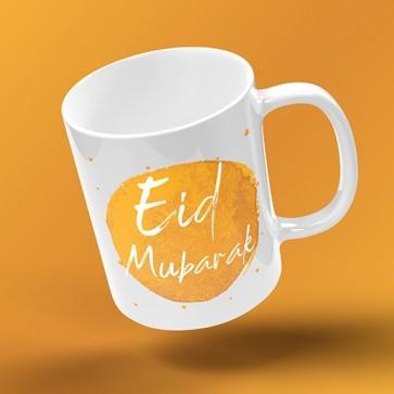 EID MUG - INKED BURST - mustard