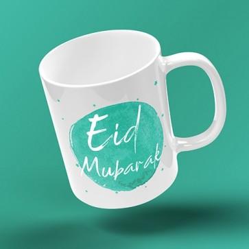 EID MUG - INKED BURST - turquoise