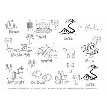 Hajj - Colouring / Craft Printable Activity