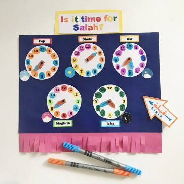 Is it time for Salah? Craft Activity Printable
