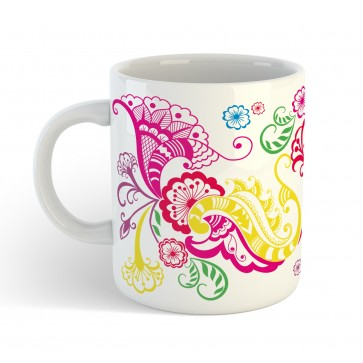 Personalised Henna Mendhi Gift Mug with custom message