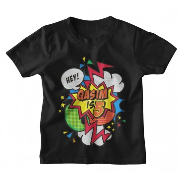 Personalised Comic Birthday Age T-shirt