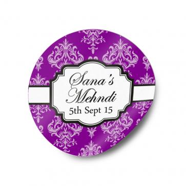 Mehndi / Wedding Favour Gift Sticker Labels