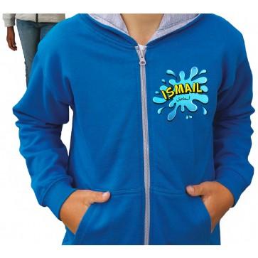 Personalised Splash Girl's & Boy's Hoodie Arabic & English Name