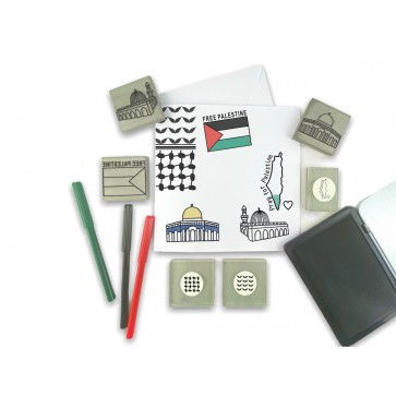 Palestine Themed Stamp Kit by ColourMyWall