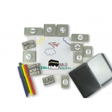 Hajj Themed Stamp & Sticker Kit by ColourMyWall