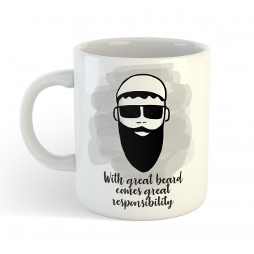 With great beard comes great responsibility - Mug