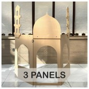 3 Panels Role-play building structure with add-on Masjid or Shop attachment