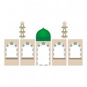Add-on Printed Green Dome Masjid Panel Covers